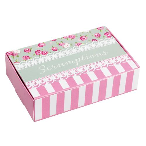 Cake Box x10 Vintage Party Party Vintage Rose Sage