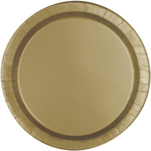 Dinner Plates x16 Round Weddings Gold Tableware