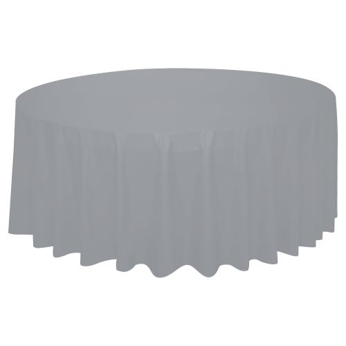 Tablecover Round Silver Wedding Tableware