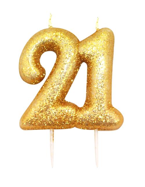 Candle Age 21 Gold Unisex 21st Birthday Party Cake Accessories