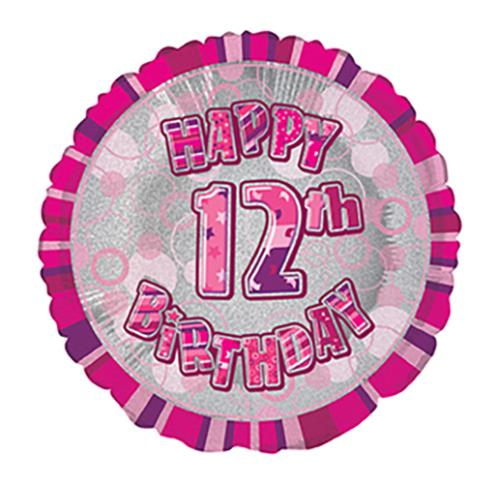 Candles Age 12 Girls 12th Birthday Party Glitz Pink Taartdecoraties