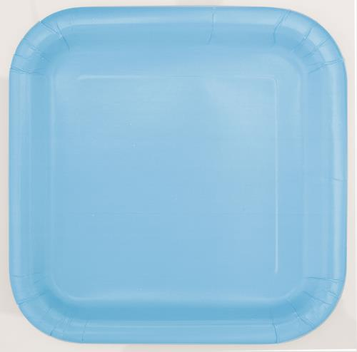 Lunch Plates x16 Square Powder Blue Tableware